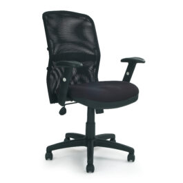Jupiter (Black) Mesh Back Managers Armchair