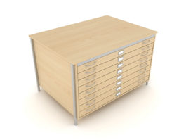 A0 Square Frame Plan Chest 1 Drawer