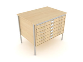 A1 Square Frame Plan Chest 1 Drawer