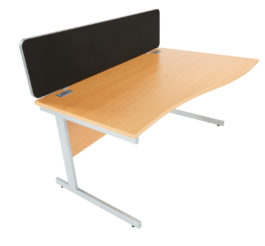 Eco Lyle Desk Mounted Screen Workstation (Straight Top, W 1600)